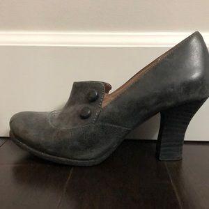 Miz mooz kyra heels. Smoke / grey / black color.
